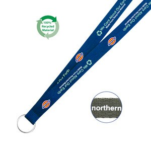 19mm Screen Printed Environmentally Friendly Lanyard (SLY-07) - greenpac.com.au