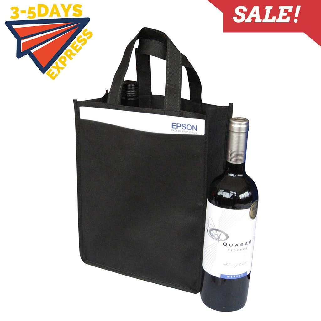 Non-woven Bag - Stock NWPP 2 Bottle Bag(SNB-24)