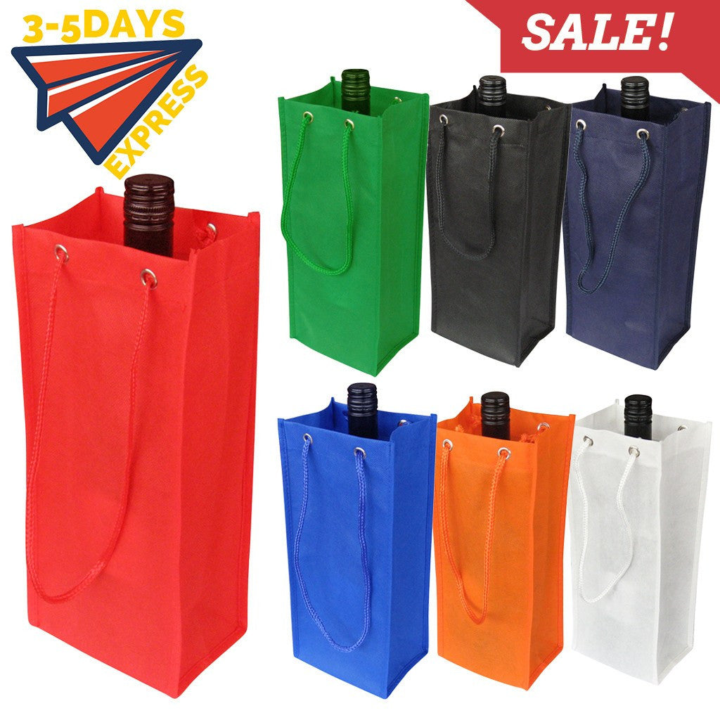 Non-woven Bag - Stock NWPP Single Bottle Bag(SNB-23)