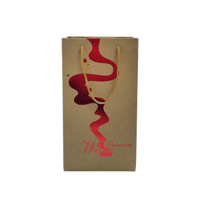 Kraft  Paper 2 Bottles Bag-Brown((KP-07) - greenpac.com.au
