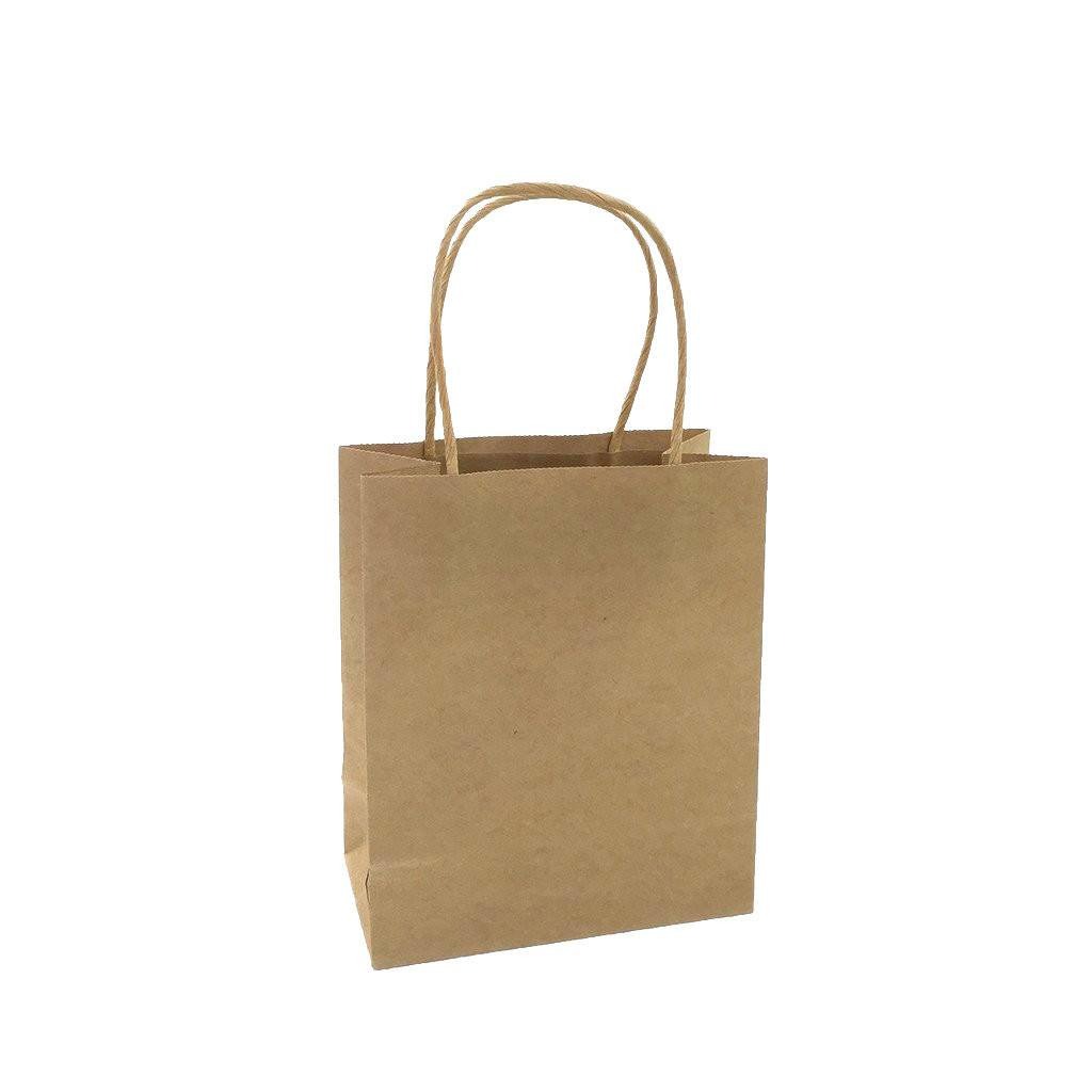 Kraft Paper Mini Bag-Brown(KP-01) - greenpac.com.au