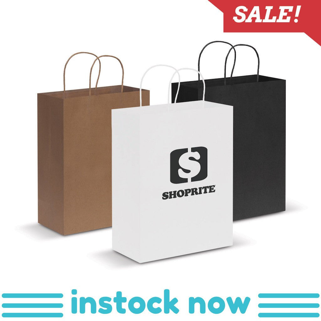 Stock Kraft Paper Carry Bag-Large(SLP-07T) - greenpac.com.au
