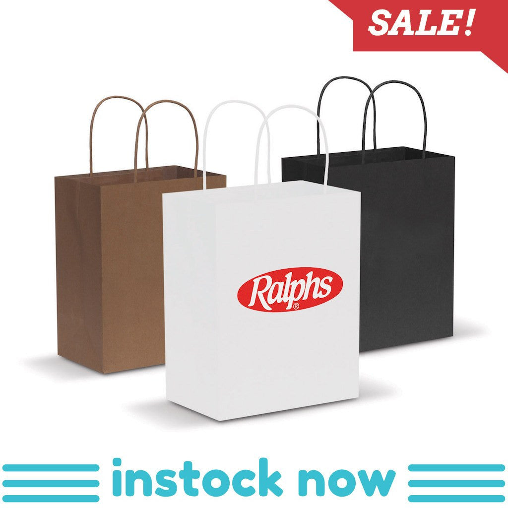 Stock Kraft Paper Carry Bag-Medium(SLP-06T) - greenpac.com.au