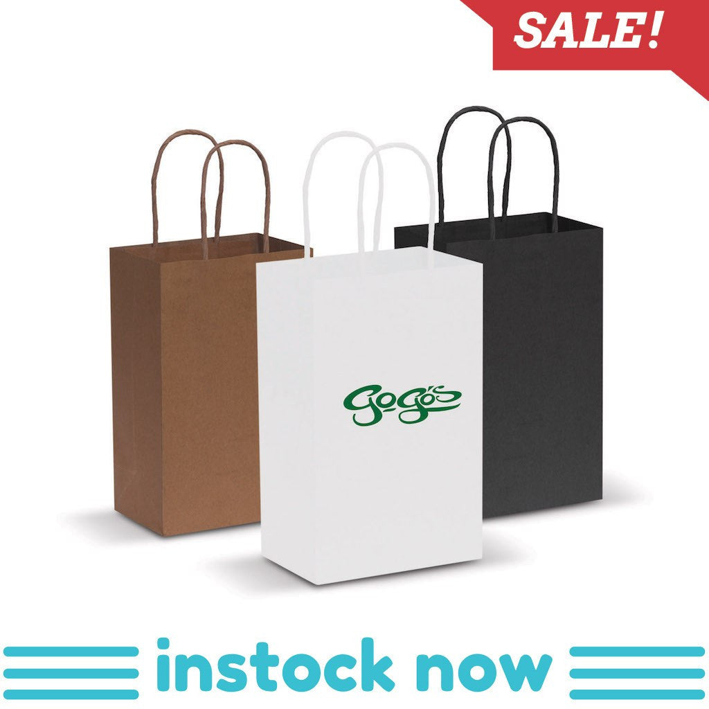 Stock Kraft Paper Carry Bag-Small(SLP-05T) - greenpac.com.au