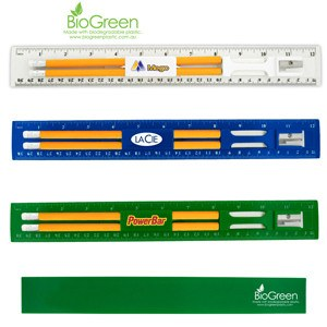 BioGreen Pencil & Ruler Set(SDA-16) - greenpac.com.au