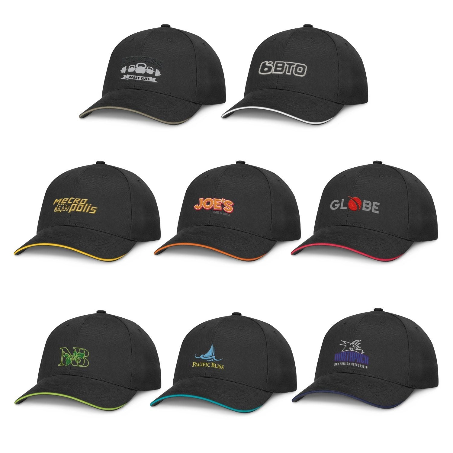 Premium Cotton Cap - Black(SHW-21T) - greenpac.com.au