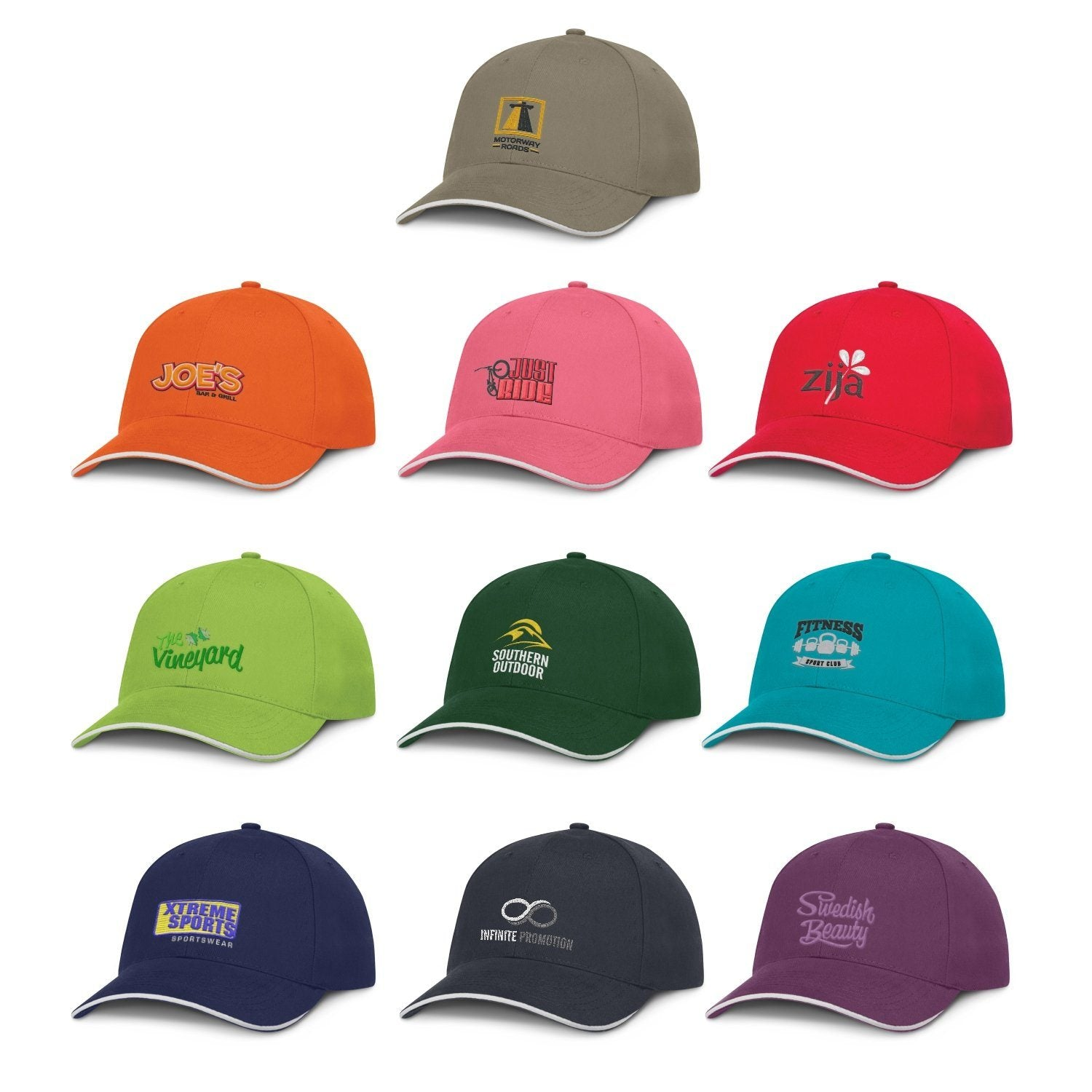 Premium Cotton Cap - White Trim(SHW-18T) - greenpac.com.au