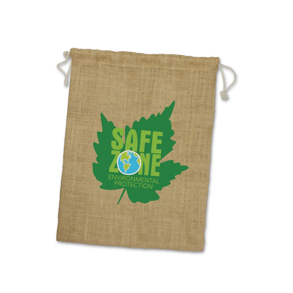 Stock Jute Drawstring Bag-Large(SJB-12T) - greenpac.com.au