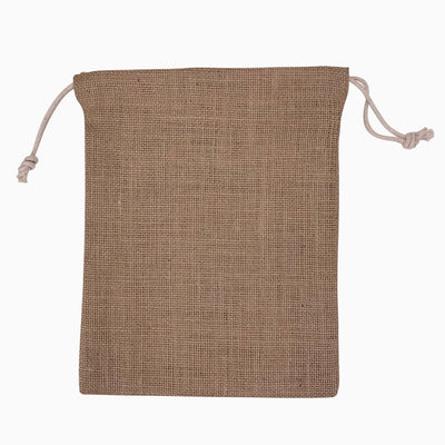 Stock Jute Drawstring Bag-Medium(SJB-11T) - greenpac.com.au
