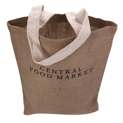 Stock Jute Flat Tote Bag(SJB-03T)