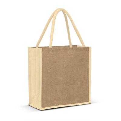 Stock Jute Portrait Shopper-Coloured(SJB-07T)