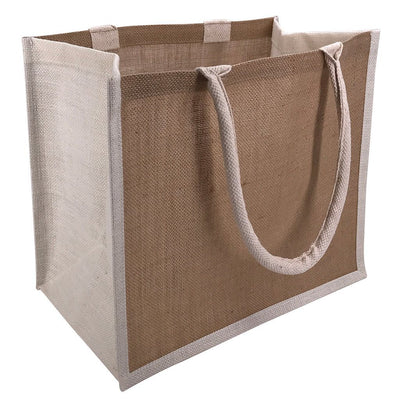 Stock Jute Shopper With Large Gusset-Coloured(SJB-08T) - greenpac.com.au