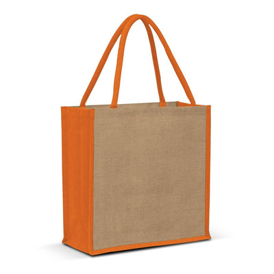 Stock Jute Square Shopper-Coloured(SJB-06T)