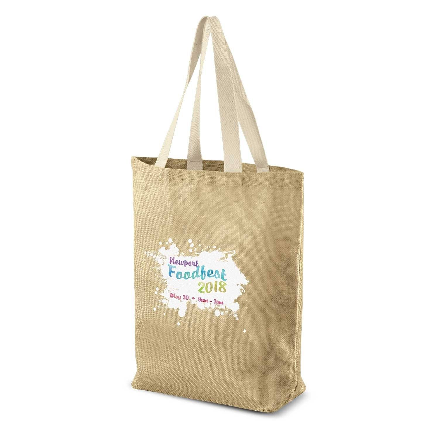 Stock Jute Tote Bag(SJB-04T) - greenpac.com.au