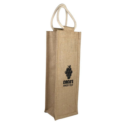 Stock Jute Wine Carrier-Single Bottle(SJB-13T) - greenpac.com.au
