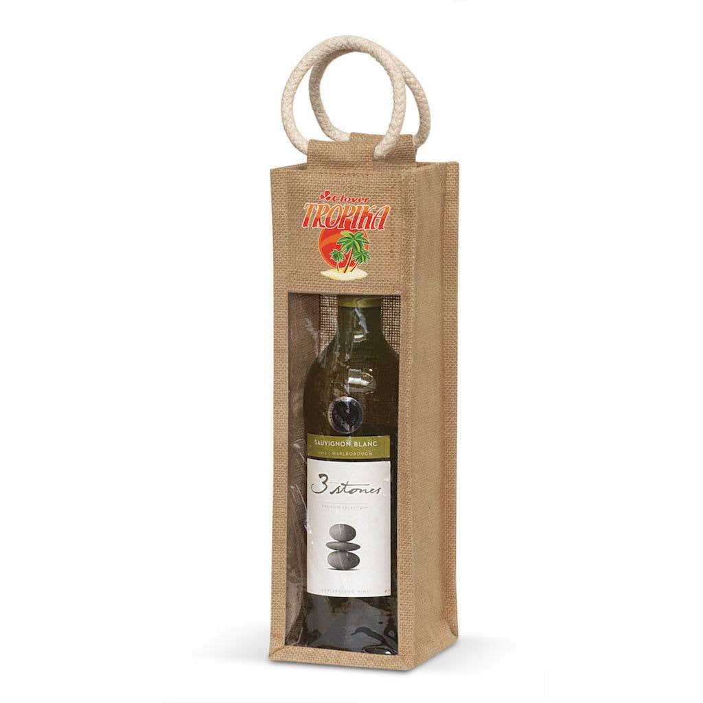 Stock Jute Wine Carrier With PVC(SJB-14T) - greenpac.com.au