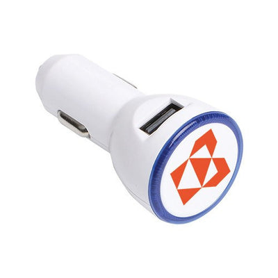 The Double Round USB Car Charger(STP-63) - greenpac.com.au