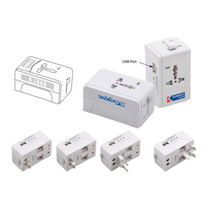 Universal Adapter with USB(STP-79) - greenpac.com.au
