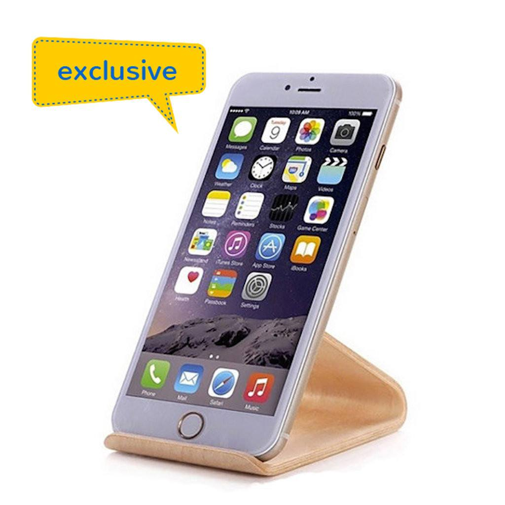 Wooden iPhone/iPad mini Stand(STP-12) - greenpac.com.au