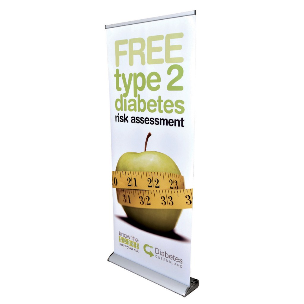 The Deluxe 850mm Roll Up Banner (BP-02) - greenpac.com.au