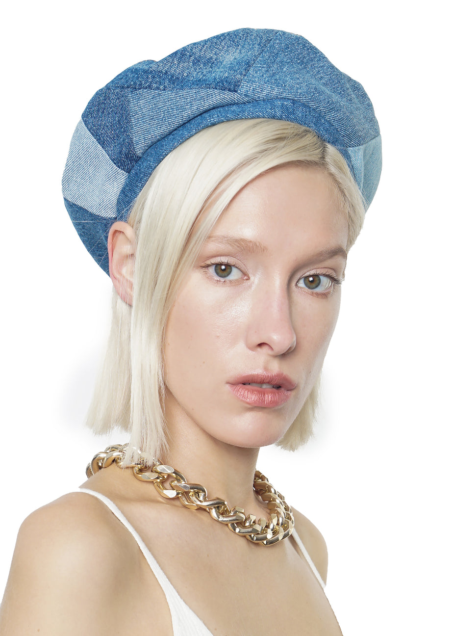 Reworked Mixed Blue Beret