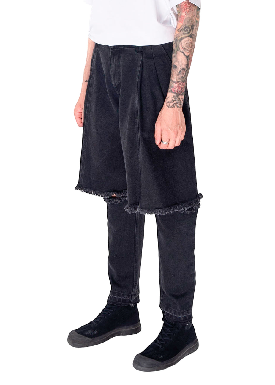 Reworked Black Demi-Denims
