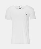 DISTORTED PEOPLE CUTTED NECK T-SHIRT WHITE online kaufen
