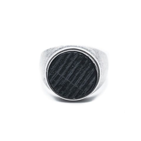 DOUBLEUFRENK BLACK SCRATCH RING