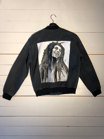 BOB MARLEY LEATHER JACKET BY LUNATICA ART