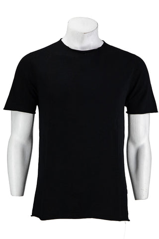 HANNES ROETHER STRICK T-SHIRT BLACK Fu10nes.127