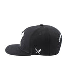 DISTORTED PEOPLE KIDS BARBER & BATCHER SNAPBACK CAP BLACK online kaufen