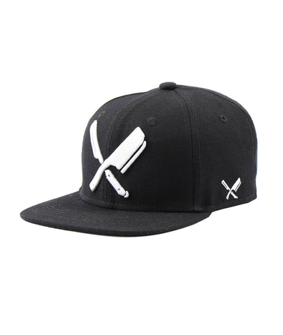 DISTORTED PEOPLE KIDS BARBER & BATCHER SNAPBACK CAP BLACK