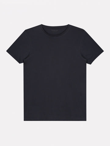 DSTREZZED BASIC T-SHIRT PIMA COTTON NAVY