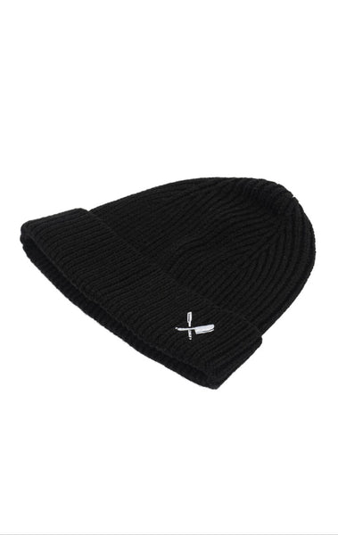 DISTORTED PEOPLE CLASSIC RIBBED BEANIE BLACK/WHITE online kaufen