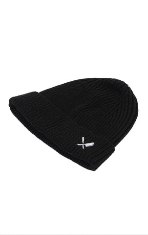 DISTORTED PEOPLE CLASSIC RIBBED BEANIE BLACK/WHITE