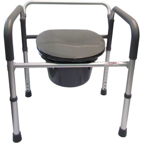 B3500F Folding, Aluminum 3 in 1 Elongated Commode