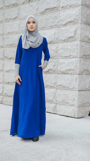 Izzah Jubah in Persian Blue - moderee - 2
