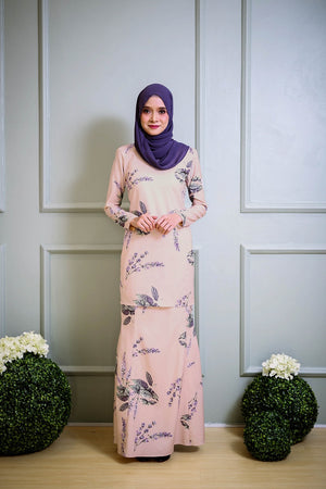 Helena Kurung in Oat Brown
