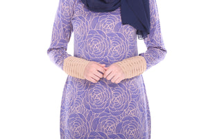 Iris Kurung in Purple - moderee - 2