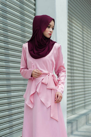 Elsa Dress in Dusty Pink - moderee - 2