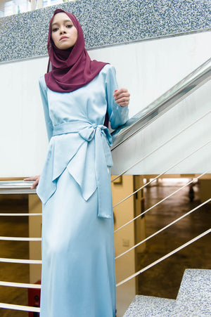 Elsa Dress in Earth Blue - moderee - 2