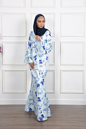 Liliana Kurung in Baby Blue
