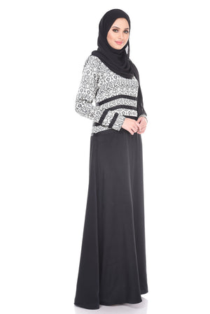 Salma Dress in Black & White - moderee - 2