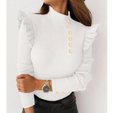 Solid Color Women'S Long Sleeve Knit Top