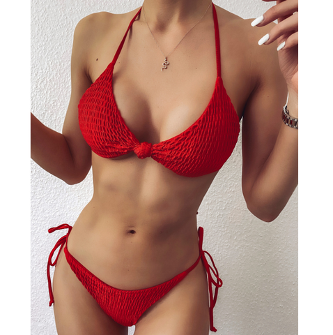 Sling Sexy Split Bikini Swimsuit