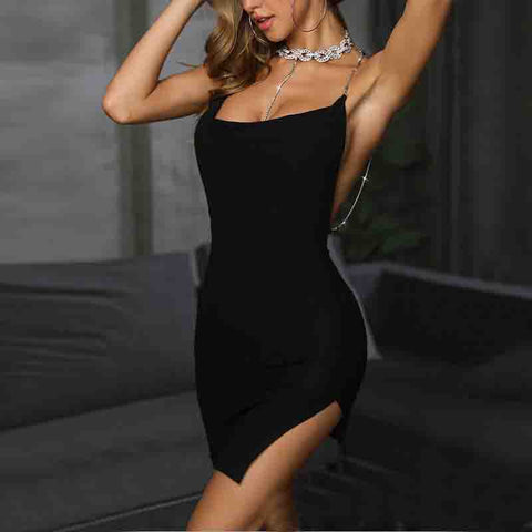 Sexy Bag Hip Sleeveless Dress