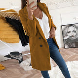Solid Color Button Long Sleeve Coat