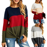 Loose Women's Round Neck Long Sleeve Top