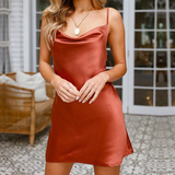 Solid Color Sexy Backless Slim Sling Dress