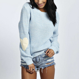 Fashion Round Neck Long Sleeves Knitted Sweater